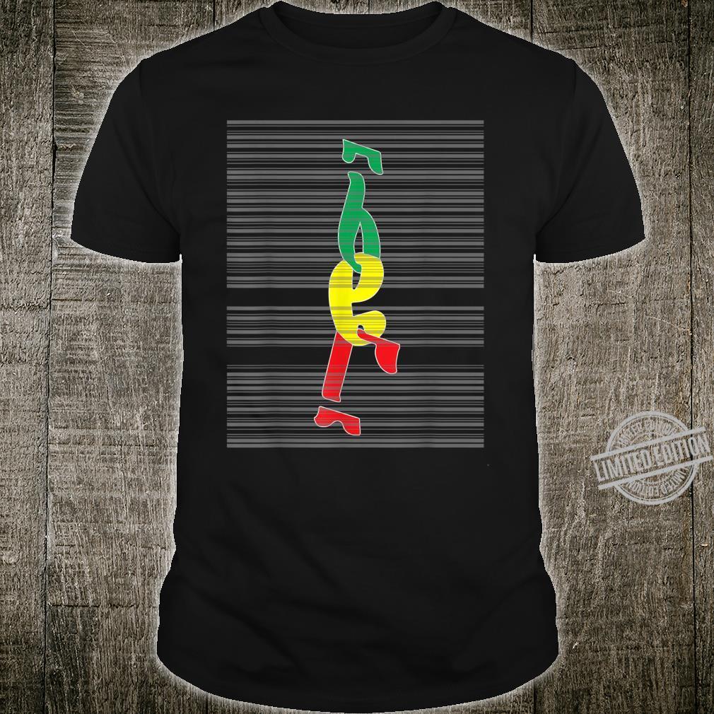Äthiopisches Alphabeten ziffer 123 in Geez skript Shirt